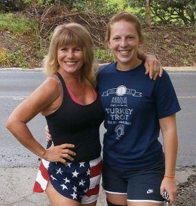 Susannah and Carole pre-run