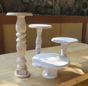 Rustic cake pedestals