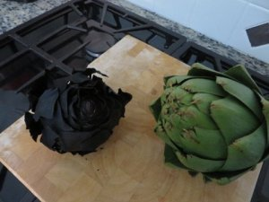 burned artichokd