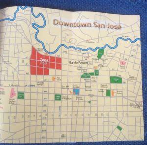 Map of Downtown San Jose