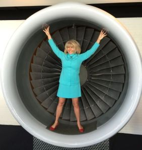 Stewardess in Jet