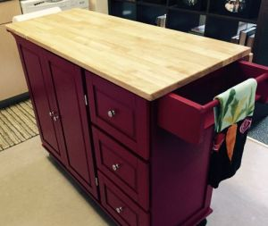 "The ""Had-to-have-it"" red kitchen cart"