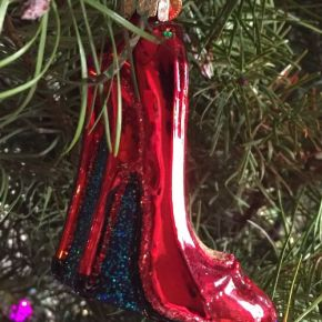 Stilettos Hung on the Tree With Care